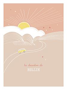 Affiche orange sunshine pêche