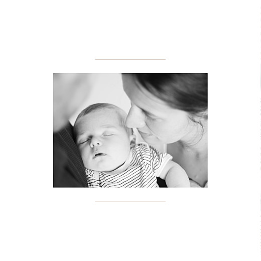 Faire-part de naissance Flamant rose 2 photos blanc - Page 2