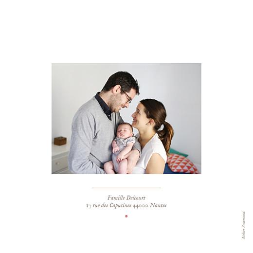 Faire-part de naissance Flamant rose 2 photos blanc