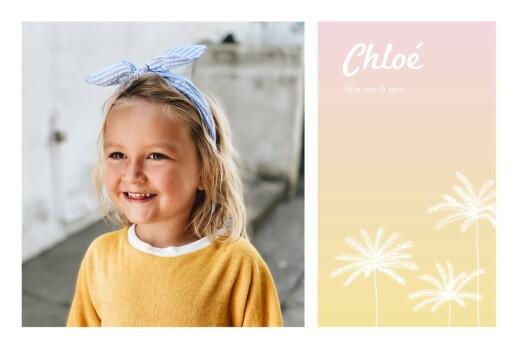 Carte d'anniversaire California dream photo rose
