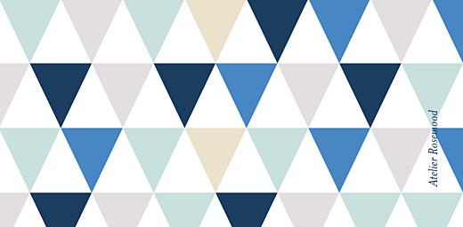 Marque-place Baptême Triangles bleu foncé - Page 3