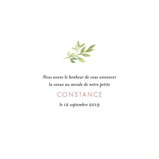 Faire-part de naissance Fleurs aquarelle photo crème - Page 3