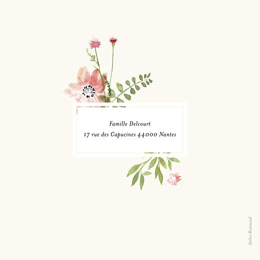 Faire-part de naissance Fleurs aquarelle photo crème - Page 4