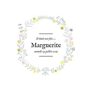 Faire-part de naissance Douceur champêtre photo rv blanc rose