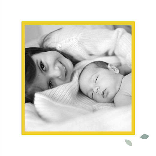Faire-part de naissance Citrons (triptyque) jaune
