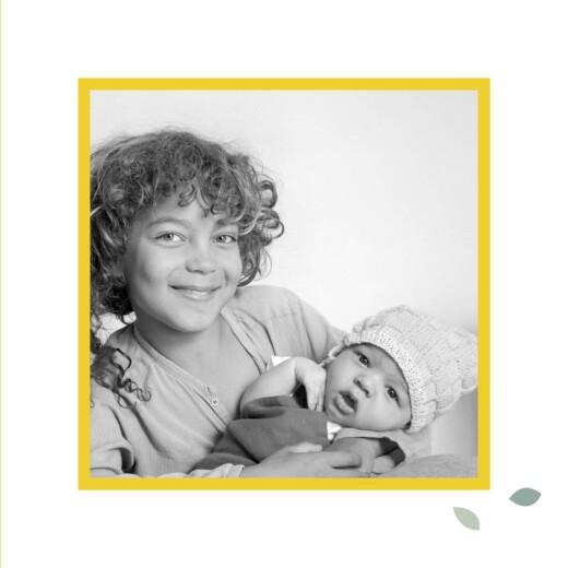 Faire-part de naissance Citrons (triptyque) jaune - Page 3