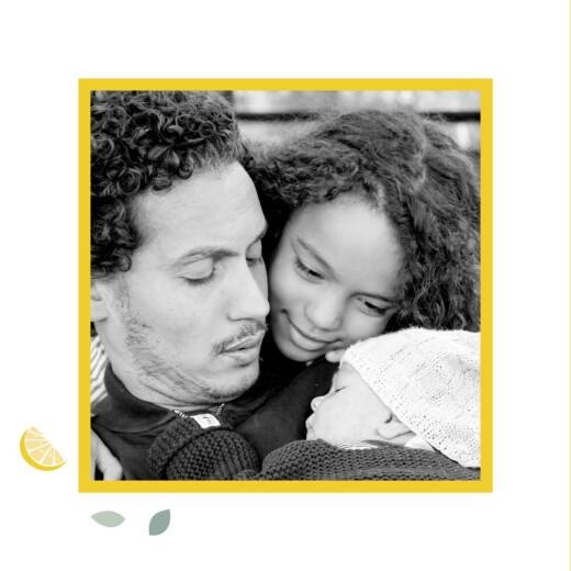 Faire-part de naissance Citrons (triptyque) jaune - Page 4