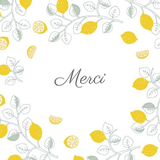 Carte de remerciement Petits citrons photo jaune - Page 2