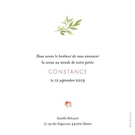 Faire-part de naissance Fleurs aquarelle photo rv crème - Page 2