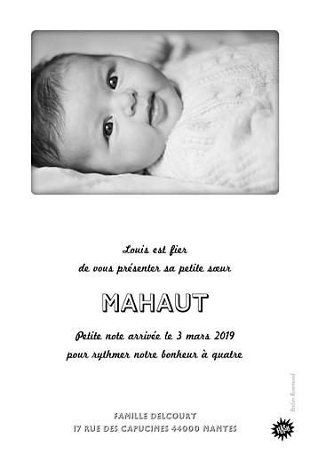 Faire-part de naissance Instant photos blanc - Page 2