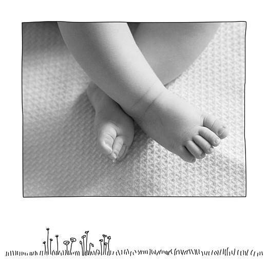 Faire-part de naissance Promesse champêtre triptyque blanc