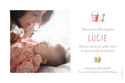 Faire-part de naissance Hello summer photo blanc - Page 2