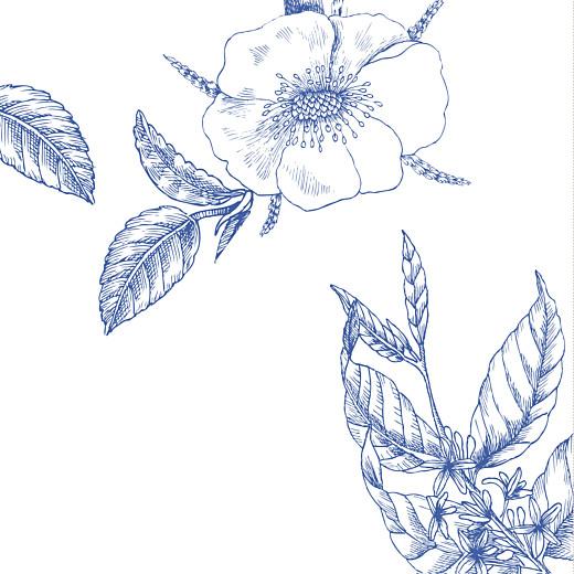 Faire-part de mariage Gravure chic (4 pages) bleu - Page 2