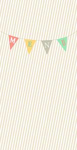 Menu de mariage jaune guinguette (4 pages) pastel rayé