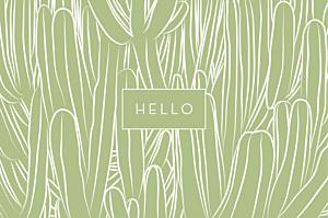 Carte de correspondance Cactus vert