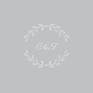 Carton d'invitation mariage Poème gris