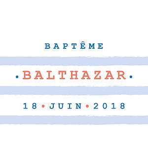 Etiquette de baptême marin marinière bleu