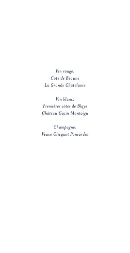 Menu de mariage Bleu de minuit (4 pages) bleu - Page 2
