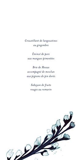 Menu de mariage Bleu de minuit (4 pages) bleu - Page 3