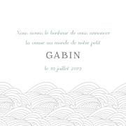 Faire-part de naissance Baleines en voyage (triptyque) blanc page 2