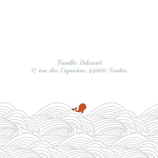 Faire-part de naissance Baleines en voyage (triptyque) blanc - Page 5