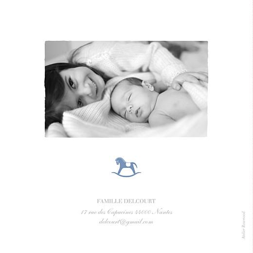 Faire-part de naissance Petit cheval 2 photos bleu wedgwood - Page 4
