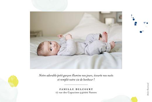 Faire-part de naissance Bulles d'aquarelle photo rv bleu-jaune - Page 2