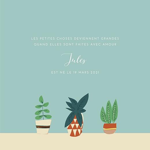 Faire-part de naissance Cacti cactus photo bleu - Page 3