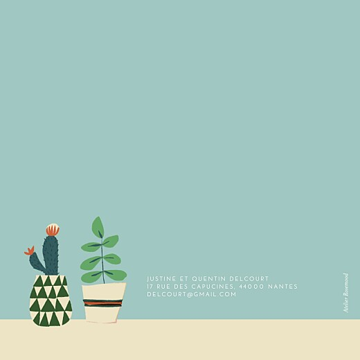 Faire-part de naissance Cacti cactus photo bleu - Page 4