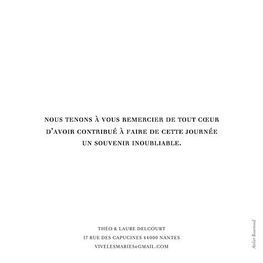 Carte de remerciement mariage Moderne chic 1 photo blanc - Page 2
