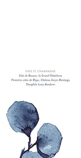 Menu de mariage Ombres florales (4 pages) bleu - Page 2