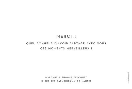 Carte de remerciement mariage Simple 1 photo paysage (dorure) blanc - Page 2