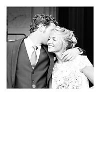 Carte de remerciement mariage dorure justifié portrait (dorure) blanc