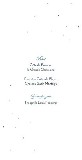 Menu de mariage Nuit d'été (4 pages) bleu - Page 2