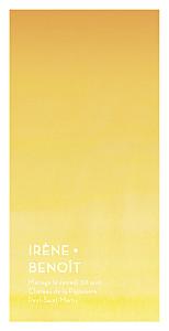 Menu de mariage jaune aquarelle (4 pages) jaune