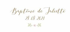 Etiquette de baptême Couronne de roses blanc