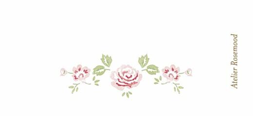 Etiquette de baptême Couronne de roses blanc - Page 2