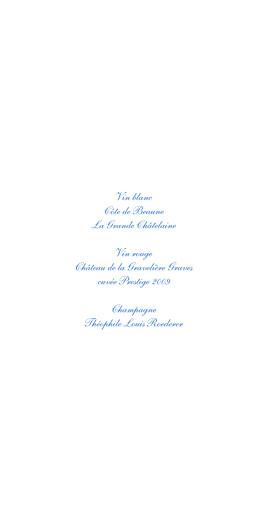 Menu de mariage Chic médaillon bleu - Page 2