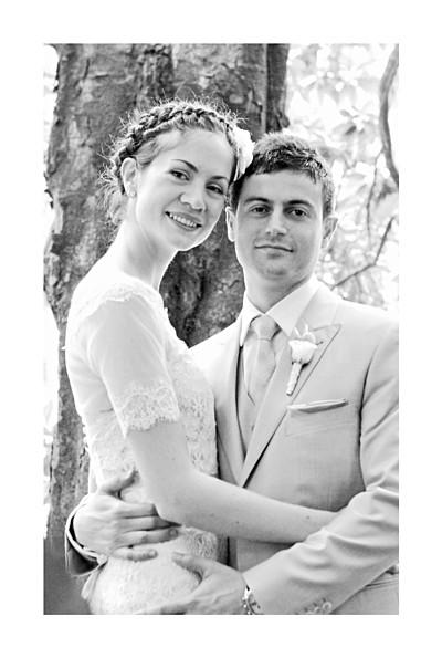 Carte de remerciement mariage Acapulco blanc & vert finition