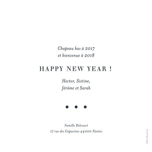 Carte de voeux Photo chic (dorure) blanc - Page 2