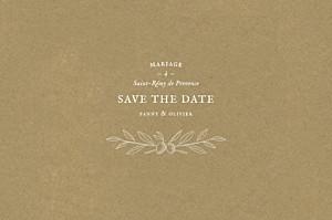 Save the date classique provence kraft