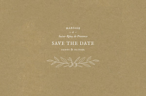 Save the date classique provence kraft