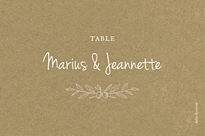 Marque-table mariage Provence kraft