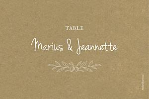 Marque-table mariage classique provence kraft