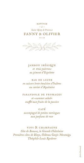 Menu de mariage Provence kraft - Page 2