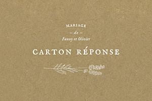 Carton réponse mariage Provence kraft