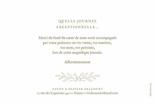 Carte de remerciement mariage Provence kraft - Page 2