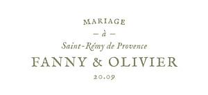 Etiquette de mariage blanc provence olive