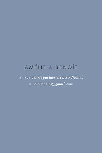 Carton d'invitation mariage Lettres d'amour bleu - Page 2