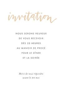 Carton d'invitation mariage rose lettres d'amour rose